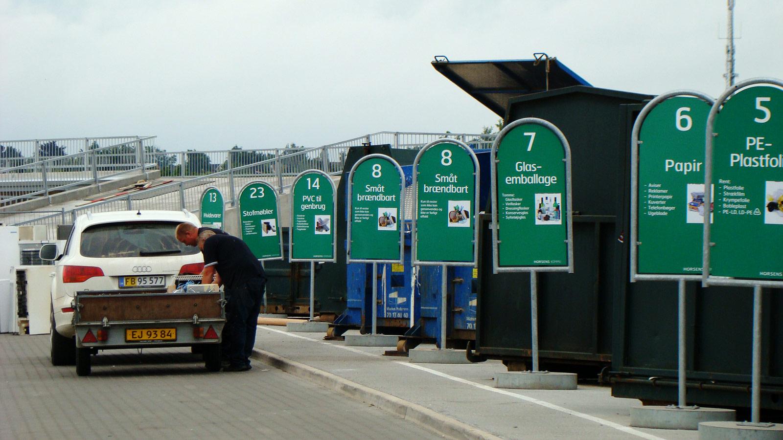 Genbrugsplads in Denmark